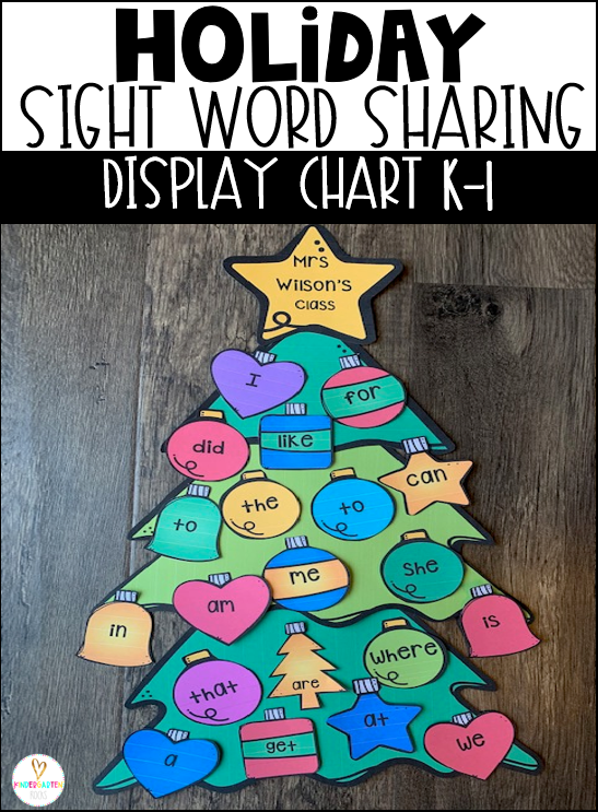 Are you looking for a fun sight word activity and a way to display sight word learning to motivate students? Then, Christmas Sight Word Sharing Display Charts are perfect for you.