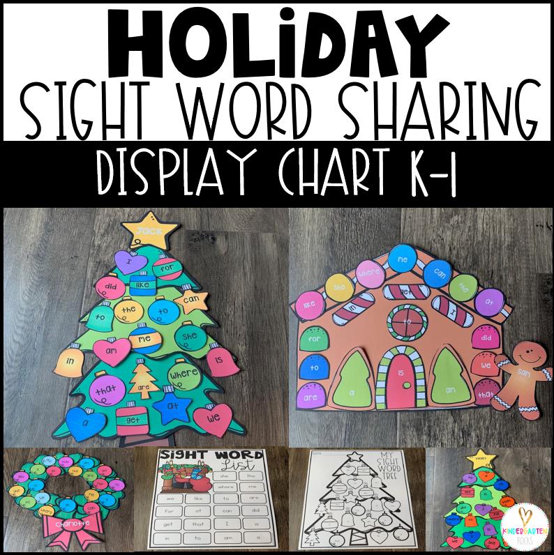 Christmas Sight Word Activity Display Charts (Holiday)