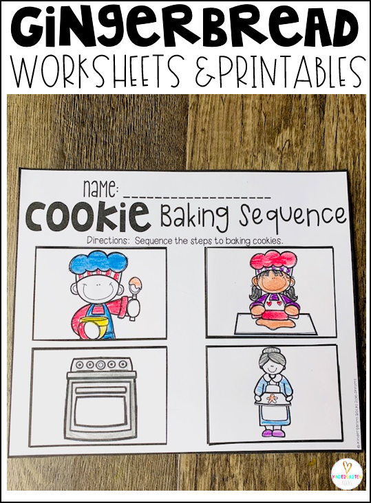 Gingerbread Math and Literacy Worksheets for Preschool is a no prep packet packed full of worksheets and printables to help reinforce and build literacy and math skills in a fun engaging way. This unit is perfect for the fall and winter months of preschool. All of the printables are aligned with the early learning standards and encourage independence. This pack is great for centers, homework and homeschooling with lots of opportunities for differentiation. #gingerbreadactivities #preschool