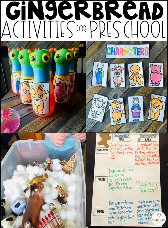 Gingerbread Activities Characters