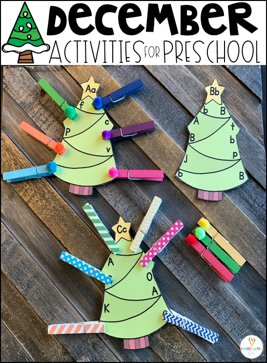 Are you looking for fun Christmas activities and simple thematic centers that you can prep quickly for your preschool classroom? Preschool December Centers was created for children ages 4-6 and mature 3 year-olds (looking for a challenge). These centers are sure to keep their interest and will help build important literacy, math and writing (fine-motor) skills. #christmasactivities #preschool