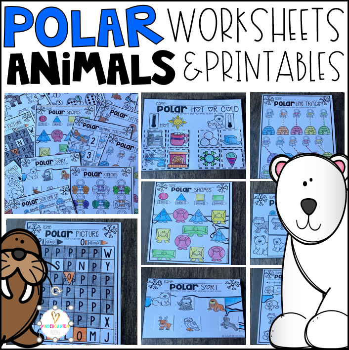 Polar Animal Activities and Printables for Preschool