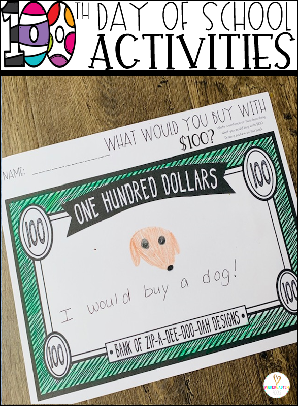 100th Day of School Plat Activities