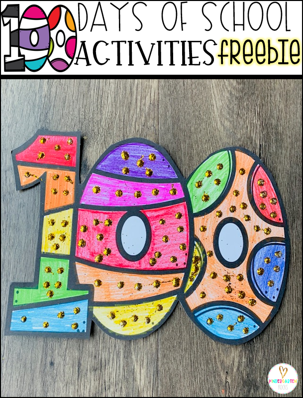 100th Day of School Freebies Color