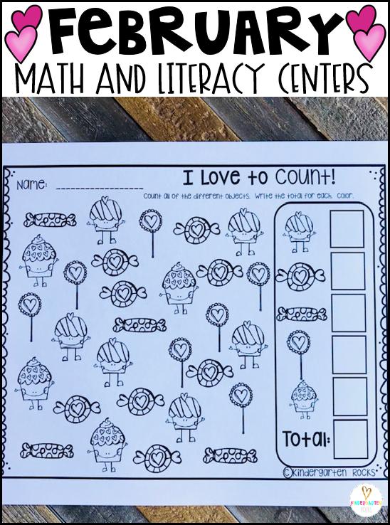 Valentine's Day Math Love Count