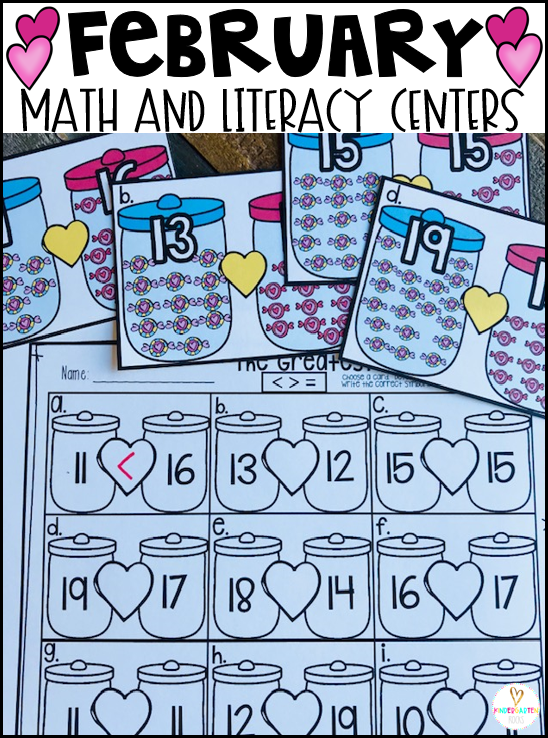 Valentine's Day Math Literacy Centers