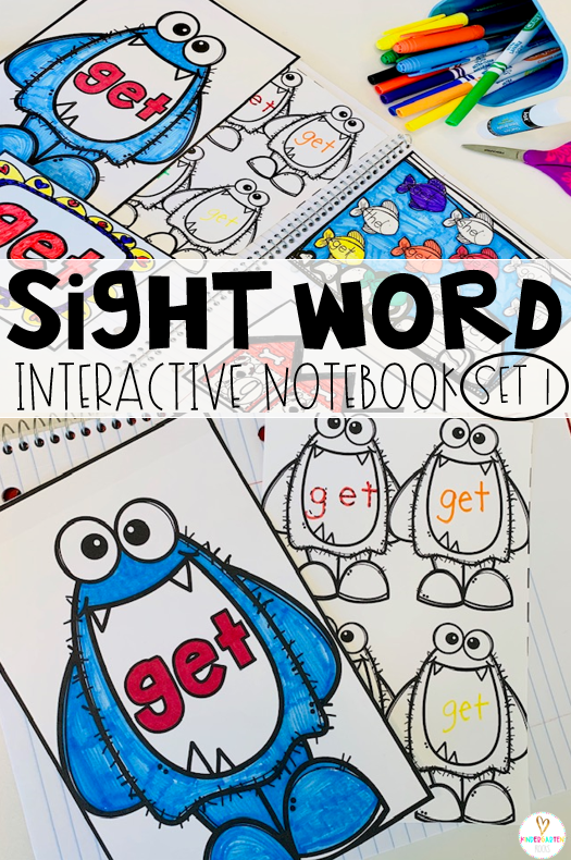 Are you looking for fun sight word activities? Then you will love our sight word notebooks! Each set includes over 10 fun activities for each set!  #kindergarten #sightwordactivities