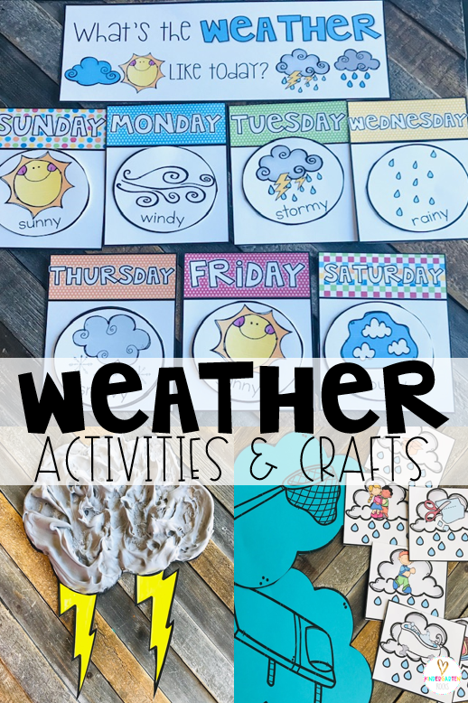 Are you looking for fun centers and weather activities for kids that you can use in your preschool classroom? Then, you will love Weather Themed Unit for Preschool. The boys and girls will love the weather addition to their calendar as well as crafts and movement activities.