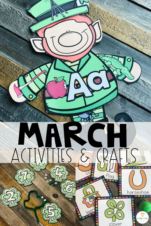 Are you looking for fun and simple thematic centers that you can prep quickly for your preschool classroom? Spring Activities for Preschool is just what you need. They will love the shamrock number to bead match, St. Patrick's Day themed dough mats and build a leprechaun by sounds.