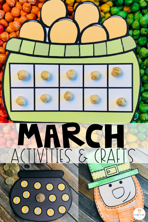Are you looking for fun and simple thematic centers that you can prep quickly for your preschool classroom? Spring Activities for Preschool is just what you need. They will love the rainbow sensory bin, leprechaun craft and number matching activities.