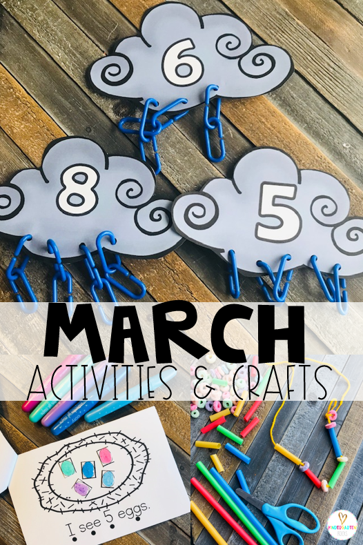Are you looking for fun and simple thematic centers that you can prep quickly for your preschool classroom? Spring Activities for Preschool is just what you need. They will love the number to rain chain match, nest to egg match and rainbow craft ideas.