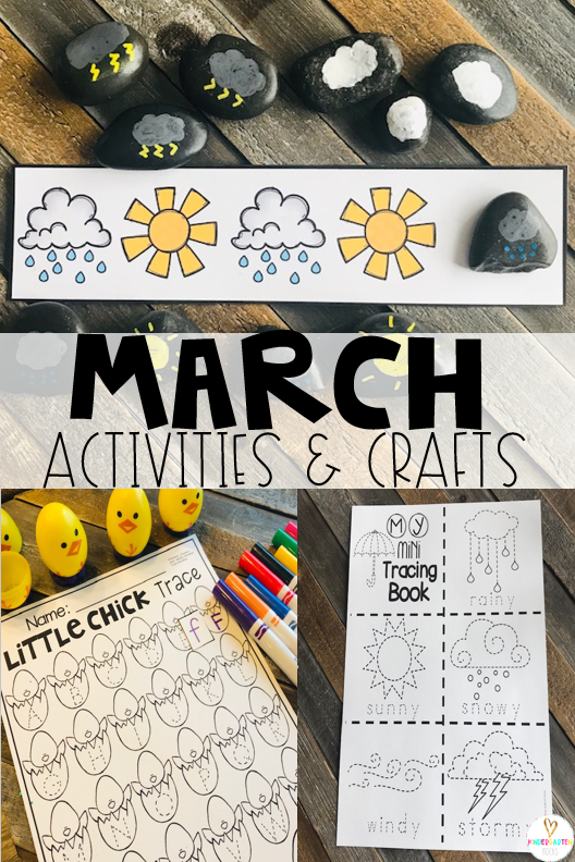 Are you looking for fun and simple thematic centers that you can prep quickly for your preschool classroom? Spring Activities for Preschool is just what you need. They will love the weather pattern rocks, little chick letter trace and weather word tracing.