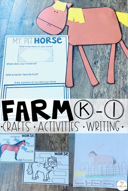 Are you looking for fun farm animals activities and farm animals crafts for kids? Then you will love our Farm Animals for Kids Unit. It is full of non-fiction passages, comprehension pages and tons of activities.