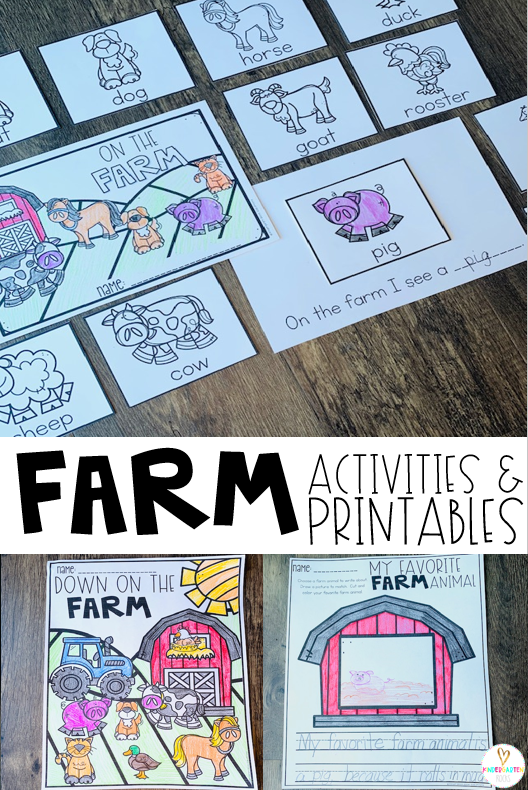 If you are looking for print and go, no-prep science-based farm activities and printables for your farm unit then you will love Farm Worksheets for Kindergarten!