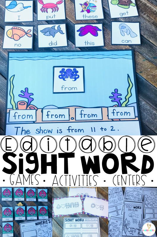 Are you looking for spring sight word games and activities that you can change to meet the needs of your kindergarten and/or first grade children?   Then, you will love Spring Sight Word Games, Printables and Activities for May. Use the sight words in sentences with this cute activity.