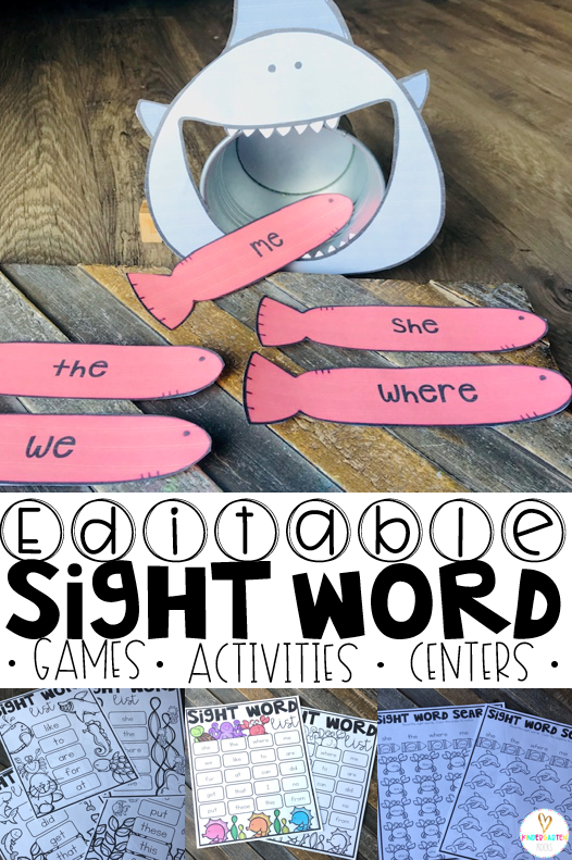 Are you looking for spring sight word games and activities that you can change to meet the needs of your kindergarten and/or first grade children?   Then, you will love Spring Sight Word Games, Printables and Activities for May.